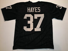 Oakland Raiders Lester Hayes UNSIGNED CUSTOM Black Jersey - XL