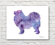 SAMOYED Contemporary Watercolor Abstract ART Print by Artist DJR