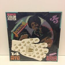 """MICHAEL JACKSON 5 14 Greatest Hits 12"""" PICTURE DISC LP SEALED w/ GLOVE & POSTER"""
