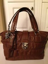 Dolce & Gabbana Authentic Dark Brown Leather Handbag