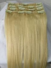 """Lot AAA 20""""-26""""Clip In Remy Real Human Hair Extensions Straight Any Color 105g"""