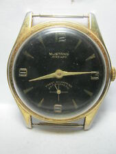 VINTAGE SWISS MENS WATCH MUSTANG CAL.Baumgartner 866  FOR PARTS OR REPAIR