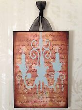 French Chandelier Plaque Wall Decor Cottage Chic