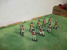 """( 9 )  Vintage  3""""  British  Red Coat Soldiers   Made in England by Britain's MD"""