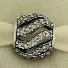 Authentic Pandora 791197CZ Winter Whisp Clear CZ Sterling Silver Bead Charm