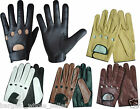 MENS REAL GENUINE ANILINE LEATHER CLASSIC DRIVING DRESS FASHION WINTER GLOVES