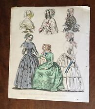 1846 - Costume. Morning Dresses.  Coloured Plate.