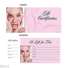 HAIR  SALON GIFT CERTIFICATES BOOK , numbered from 1-50 ,