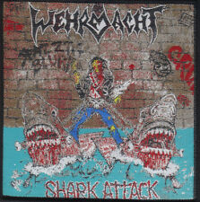WEHRMACHT-SHARK ATTACK- WOVEN PATCH-CROSSOVER METAL