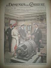 G. MARCONI EXPERIENCE TELEGRAPHE TROTINETTE ST CLOULA DOMENICA DEL CORRIERE 1920