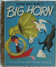 LITTLE BOY WITH A BIG HORN Vintage Childrens Little Golden Book 1st Edition (A)