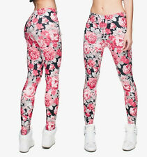 ROSA E NERO ROSE Bush Soft Leggings - 8-12 UK, FLOREALE FIORI, ROSE,