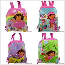 4pcs Dora drawstring backpack school bag Kid Christmas party gifts