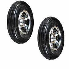 "Two  8""x2"" (200x50) Solid Rear Wheels for the Drive Hawk Mobility Scooter (NEW)"