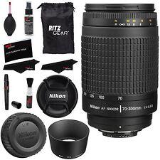 Nikon Nikkor 70-300mm Zoom F/4.0-5.6 AF G Lens + Ritz Gear Premium Cleaning Kit