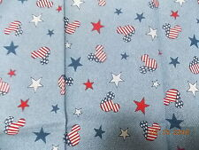 "American Flag Mickey Mouse Fabric Fat Quarter  19"" x 19"""