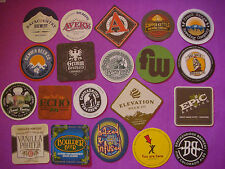 20 Beer COASTERS: Breckenridge,Boulder,Epic,Elevation,Denver,Dry Dock,FunkWerks+