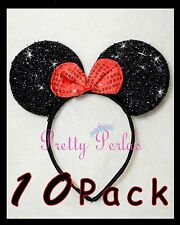 10pc Minnie-Mickey Mouse Ears Headband  Sparkle ShimmerMinnie Party Head Bands