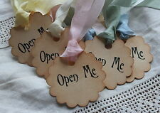 OPEN ME Vintage Style Tags/Labels-Set of 10-Party-Wedding-Alice in Wonderland