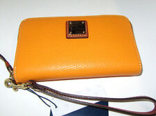 Dooney & Bourke Melon Zip Around Wristlet Leather Cell Phone Wallet NWT $118