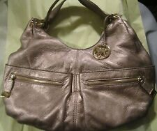 Michael Kors Layton Large Shoulder Gold Mettalic Handbag w/gold hardware