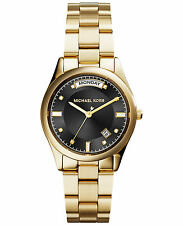 **NEW* LADIES MICHAEL KORS COLETTE GOLD CRYSTAL DAY DATE WATCH MK6070 -RRP £229