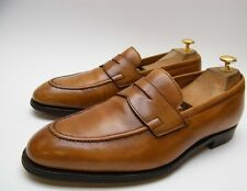 MENS POLO RALPH LAUREN BENCH MADE COGNAC BRN PENNY LOAFER DRESS SHOES 9.5~1/2 D