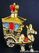 CERAMIC DONKEY PULLING CARRIAGE GOLD PAINTED DECANTER RETRO KITSCH EXCEL COND