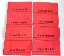 NEW~8 piece Laura Biagiotti Red CASE JEWELERY SUNGLASS Storage Bag TRAVEL Italy
