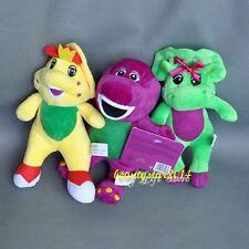 "New Cute 3PCS/Set  Barney & Friend Baby Bop BJ Plush Doll Toy 7"""