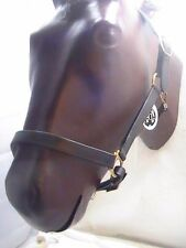 Silver Cup chocolate brown padded leather halter size large horse/draft horse