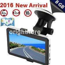 5'' TRUCK CAR Navigation GPS Navigator SAT NAV 8GB All US Canada Map SPEEDCAM OE