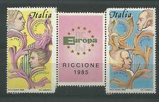 TRITTICO  RARO IPZS EUROPA 1985 FRANCOBOLLI NATURALI MOSTRA RICCIONE VEDI FOTO