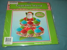 NIP Christmas (Santa) Cupcake Stand for Kids--Holds 16 Cupcakes or Small Treats