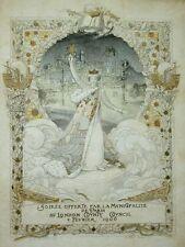 SUPERB ESTAMPE AFFICHETTE ÉPOQ ART NOUVEAU SOIRÉE PARIS 1906, NOEL BOUTON, STERN