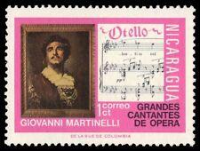 """NICARAGUA 962 (Mi1822) - Giovanni Martinelli """"Othello"""" (pf53306)"""