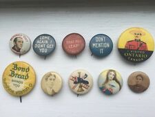Lot Of 10 Vintage And Antique Multi-themed Pinback Button Pins