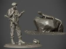 RP Models Major Anders Lassen WW2 Unpainted 75mm Figure kit Ltd Edition