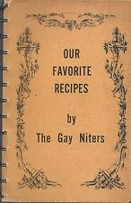 *TIPTON TOWNSHIP IN ANTIQUE c1960s GAY NITERS HOMEMAKERS COOK BOOK *LOCAL ADS