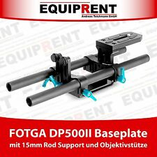 FOTGA DP500II Rig Baseplate mit 15mm Rod Support und Objektivstütze (EQ467)