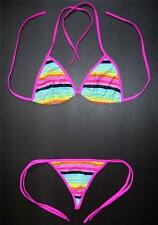 Multi Coloured G-STRING BIKINI Swimming Costume Thong Beach Wear Ladies Swimsuit