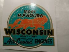 #3 Wisconsin Engine Decal More Horsepower Hours