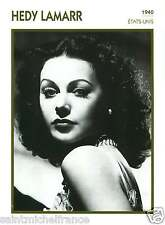 HEDY LAMARR ACTRICE ACTRESS FICHE CINEMA USA 90s