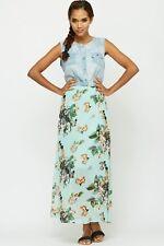 Womens Denim Insert Maxi Dress Size 10