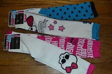 4 Different Pairs of Monster High Knee High Socks Size 9-11 Officially Licensed