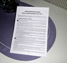 Bedienungsanleitung Gebrauchsanweisung AKKU-HAARSCHNEIDES-SET HS 11