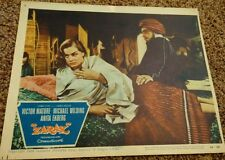 Vintage Zarak Movie Lobby Card 1956 Victor Mature Theater Decor Columbia Picture