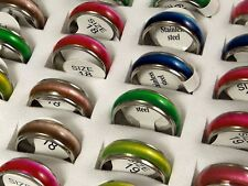 """Wholesale 50 pcs Color Mix """"Cat Eye """" Fashion Stainless Steel Rings Jewelry lots"""