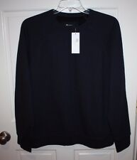 NWT Mens $220 T by Alexander Wang Vintage Fliuk Navy Blue Sweater Size Large