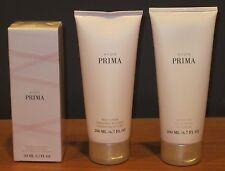 Avon Prima Perfume 1.7oz Eau De Parfum Body Lotion Shower Gel Set $54 NEW